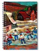 Pond Hockey 3 Spiral Notebook