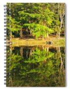 Pond Reflection Guatemala Spiral Notebook