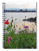 Poppies By The River Spiral Notebook