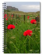 Poppies By The Roadside In Northumberland Spiral Notebook