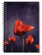 Poppies Fun 02b Spiral Notebook