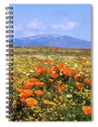 Poppies Over The Mountain Spiral Notebook