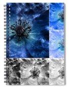 Poppy Blue - Macro Flowers Fine Art Photography Spiral Notebook