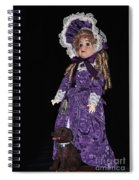 Porcelain Doll - Full View With Puppy Spiral Notebook