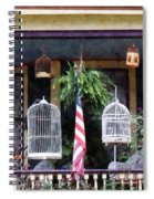 Porch With Bird Cages Spiral Notebook