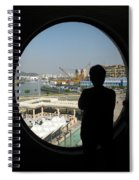 Porthole Silhouette Spiral Notebook
