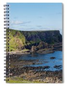 Portnaboe Bay At Giants Causeway Spiral Notebook