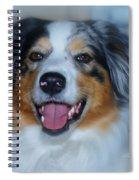 Portrait Of A Dog Lady Spiral Notebook