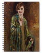 Portrait Of A Girl With A Green Shawl Spiral Notebook