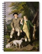 Portrait Of A Sportsman With His Son Spiral Notebook