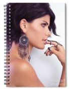 Portrait Of A Woman Wearing Jewellery Spiral Notebook
