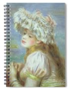 Portrait Of A Young Woman In A Lace Hat Spiral Notebook