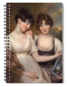 Portrait Of Anne And Maria Russell Spiral Notebook