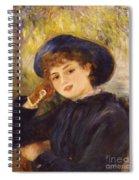 Portrait Of Mademoiselle Demarsy Spiral Notebook