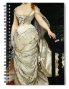 Portrait Of Mademoiselle X Spiral Notebook