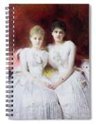 Portrait Of Marthe And Terese Galoppe Spiral Notebook