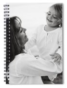Portrait Of Mother And Daughter Spiral Notebook