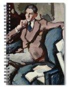 Portrait Of Willie Peploe Spiral Notebook