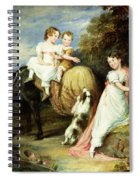 Portraits Of The Children Of The Rev. Joseph Arkwright Of Mark Hall Essex Spiral Notebook
