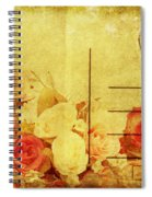 Postcard With Floral Pattern Spiral Notebook