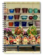 Pots And Birdhouses Spiral Notebook