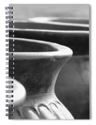 Pots In Black And White Spiral Notebook