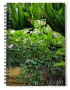 Potted Shades Of Green Spiral Notebook