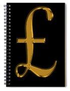 Pound Sterling In Gold Spiral Notebook