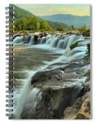 Pouring Over Sandstone Spiral Notebook