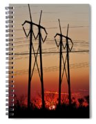 Power Towers At Sundown Spiral Notebook