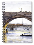Prague Bridges Spiral Notebook