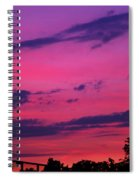 Prague Sunset Spiral Notebook