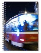 Prague Tram Spiral Notebook