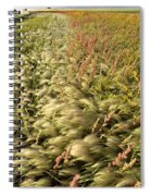 Prairie Crop With Weeds Spiral Notebook