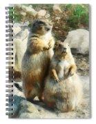 Prairie Dog Formal Portrait Spiral Notebook