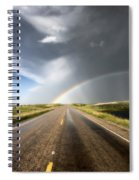 Prairie Hail Storm And Rainbow Spiral Notebook