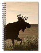 Prairie Moose Spiral Notebook
