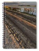 Prairie Road Storm Clouds Mud Tracks Spiral Notebook