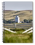 Prairie Town With Elevator Spiral Notebook