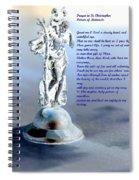 Prayer To St Christopher Spiral Notebook