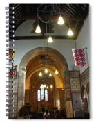 Praying At The St Mary Church Inside Dover Castle In England Spiral Notebook
