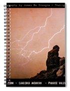 Praying Monk Camelback Mountain Lightning Monsoon Storm Image Tx Spiral Notebook