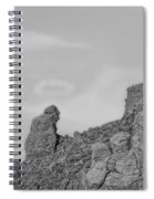 Praying Monk With Halo Camelback Mountain Bw Spiral Notebook