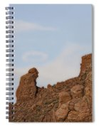Praying Monk With Halo Camelback Mountain Spiral Notebook