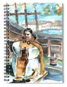 Preaching The Bible On The Conquistadores Boat In Vila Do Conde In Portugal Spiral Notebook