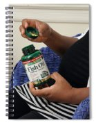 Pregnant Woman Taking Fish Oil Spiral Notebook