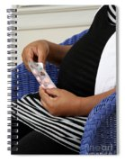 Pregnant Woman Taking Vitamins Spiral Notebook