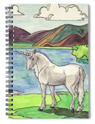 Prehistoric Unicorn Spiral Notebook