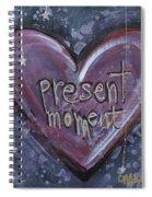 Present Moment Heart Spiral Notebook