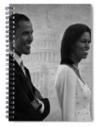 President Obama And First Lady Bw Spiral Notebook